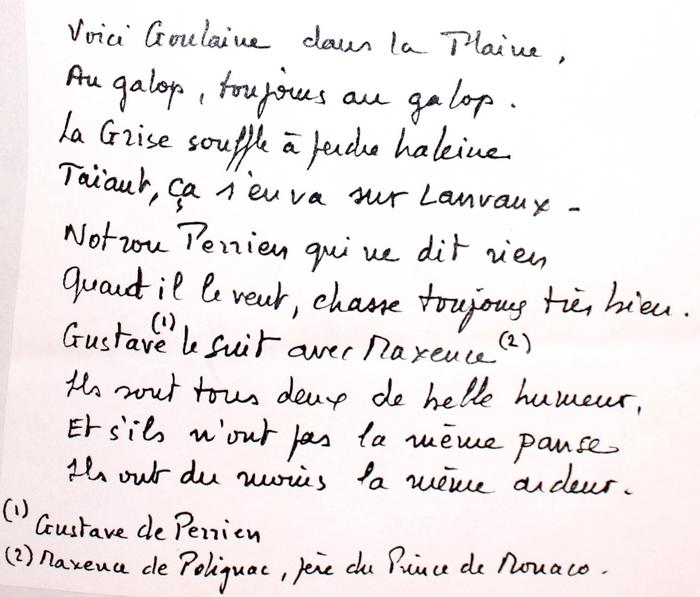 Paroles de La Goulaine