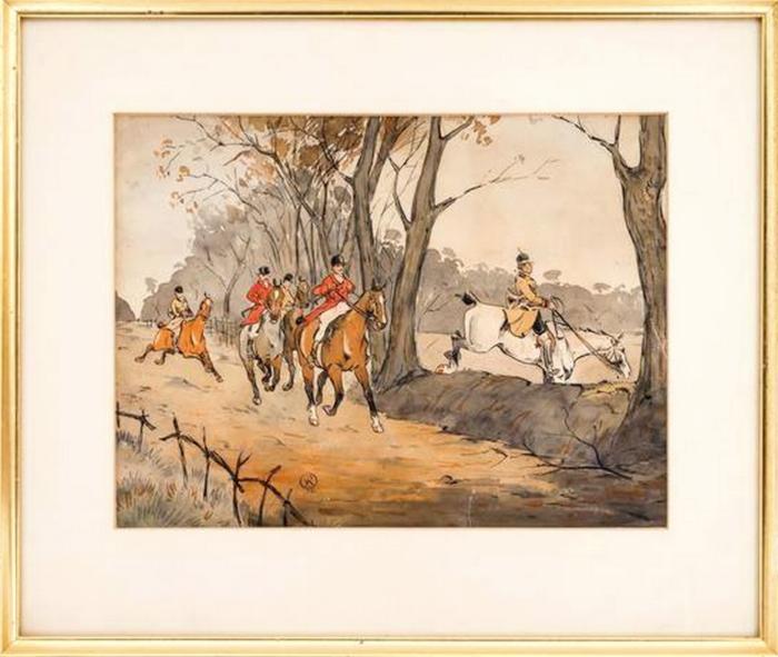 L'Equipage Champchevrier par Karl Reille - Collection particulière - Société de Vènerie - 2