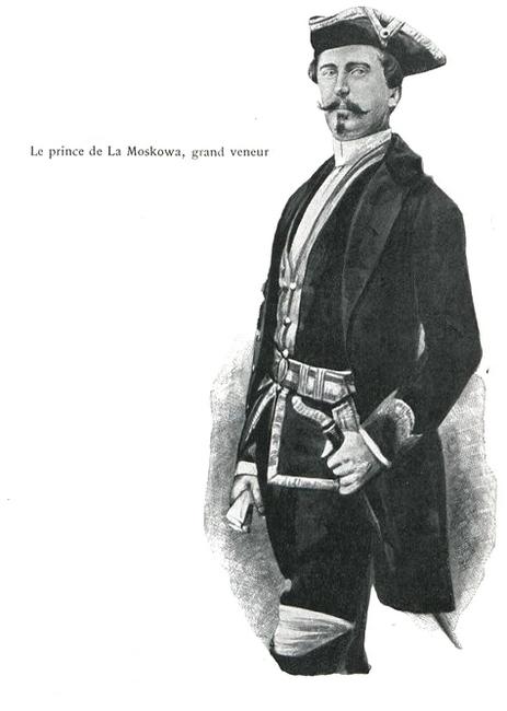 Le prince de La Moskowa, grand veneur - Illustration tirée de l'ouvrage La Chasse à travers les Âges - Comte de Chabot (1898) - A. Savaète (Paris) - B