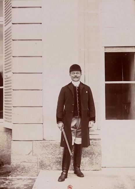 L'Auteur (Maurice de Gasté) - Tiré de l'ouvrage L'Equipage du marquis de Chambray - Photos de Maurice de Gasté (1894) - Bnf (Gallica)