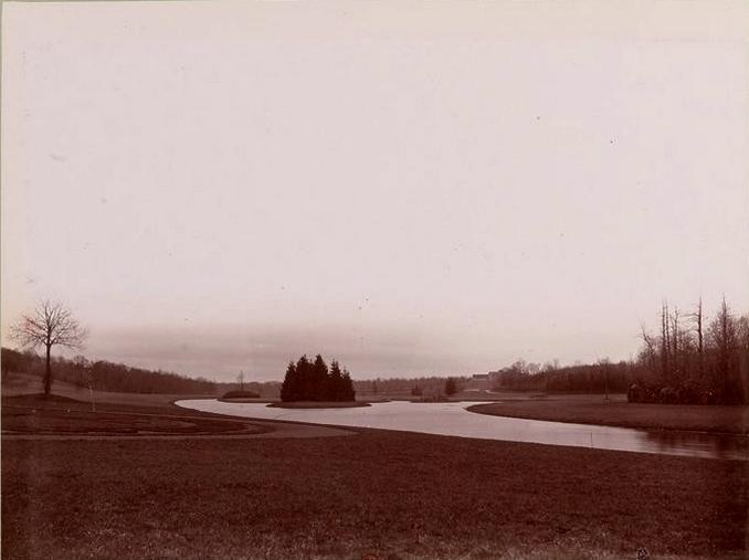 Parc des Vaux - Tiré de l'ouvrage L'Equipage du marquis de Chambray - Photos de Maurice de Gasté (1894) - Bnf (Gallica)