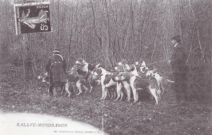Equipage des Officiers d'Auxonne - Rallye Mondragon - Tiré de l'ouvrage Deux Siècles de Vènerie à travers la France - H. Tremblot de la Croix et B. To