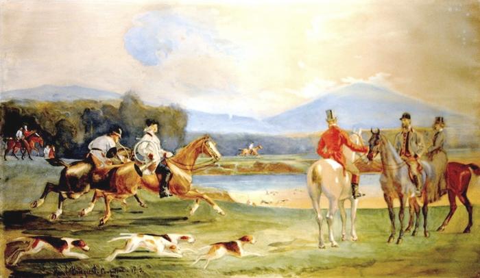 Saint-Hubert chez le marquis de L'Aigle en 1873 - Don de M. P. Verro à la Société de Vènerie