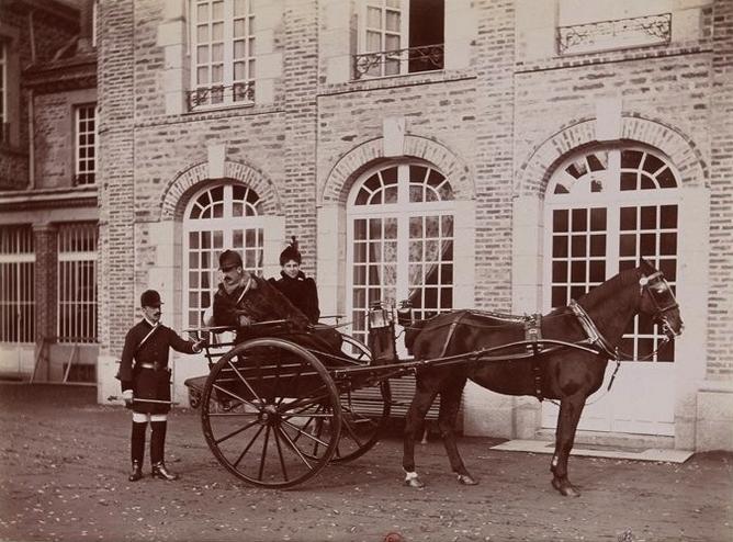 Le comte et la comtesse F. de Malterre - Le comte J. de Malterre - Tiré de l'ouvrage L'Equipage du marquis de Chambray - Photos de Maurice de Gasté (1