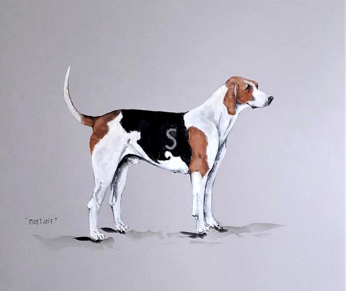 Montjoie, chien de l'Equipage Servant par Jean-Pierre Boitard - Don de l'artiste à la Société de Vènerie