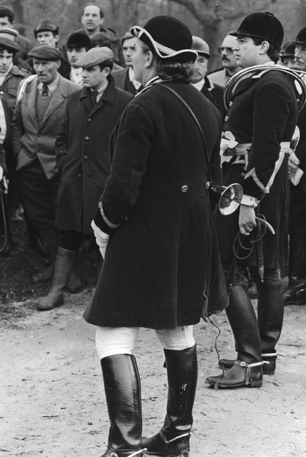 13 décembre 1980 - Rallie Touraine - Solange et Bruno Chevreux - Photo de Georges Hallo - Don de M. J.-G. Hallo à la Société de Vènerie