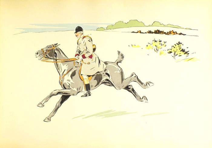 Illustration de Philippe Roque tirée de de l'ouvrage L'Equipage du Francport paru en 1910 - Société de Vènerie (1)