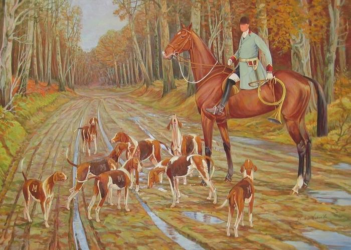 L'Equipage Piqu'Avant Sologne par Christian de La Verteville (www.laverteville.com) - Société de Vènerie