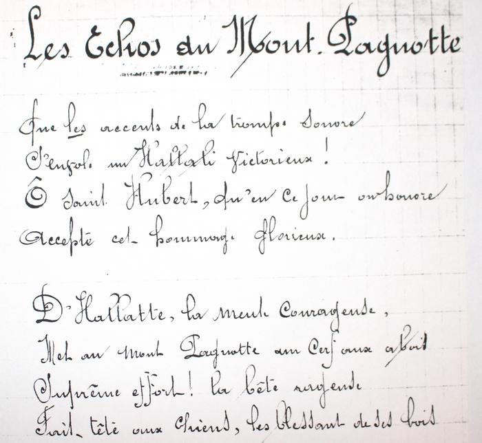 Paroles des Echos du Mont Pagnotte