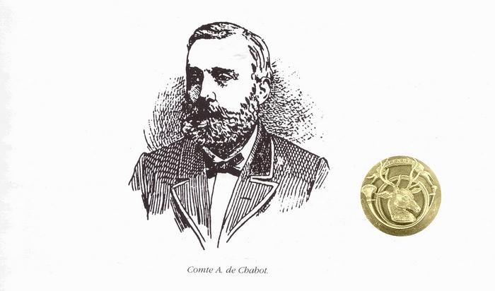 Auguste de Chabot - Tiré de l'ouvrage Deux Siècles de Vènerie à travers la France - H. Tremblot de la Croix et B. Tollu (1988)