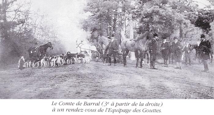 Equipage de Jaligny - Equipage des Gouttes - Tiré de l'ouvrage Deux Siècles de Vènerie à travers la France - H. Tremblot de la Croix et B. Tollu (1988