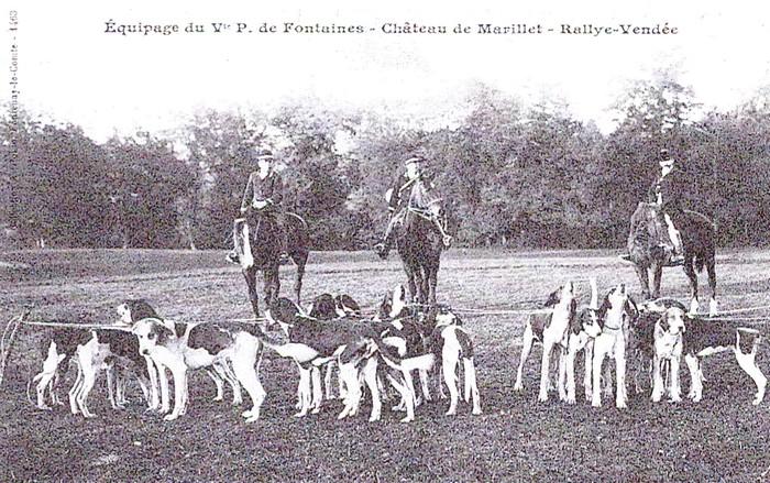 Equipage de Marillet - Tiré de l'ouvrage Deux Siècles de Vènerie à travers la France - H. Tremblot de la Croix et B. Tollu (1988)