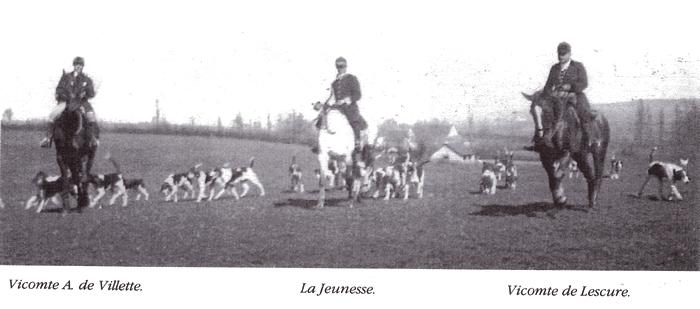 Rallye La Haut - Tiré de l'ouvrage Deux Siècles de Vènerie à travers la France - H. Tremblot de la Croix et B. Tollu (1988)