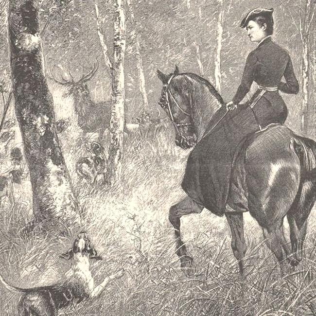 Gravure de presse - 1892 - Société de Vènerie
