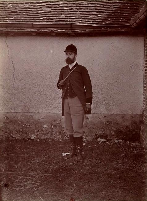 Maurice de Lestanville - Tiré de l'ouvrage L'Equipage du marquis de Chambray - Photos de Maurice de Gasté (1894) - Bnf (Gallica)