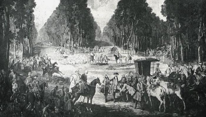 Tapisserie des Gobelins 3 - Illustration tirée de l'ouvrage La Chasse à travers les Âges - Comte de Chabot (1898) - A. Savaète - (Gallica)