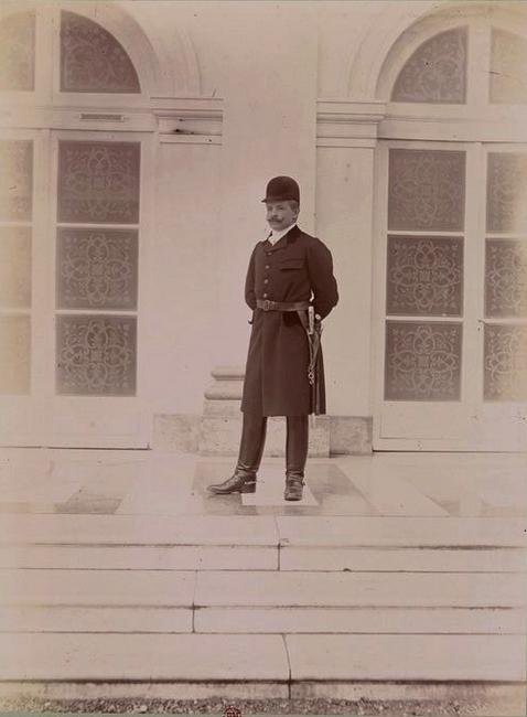 Le Comte d'Aubigny d'Assy - Tiré de l'ouvrage L'Equipage du marquis de Chambray - Photos de Maurice de Gasté (1894) - Bnf (Gallica)