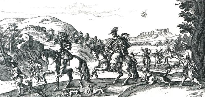XVIIe siècle - Gravure - Illustration tirée de l'ouvrage La Chasse à travers les Âges - Comte de Chabot (1898) - A. Savaète (Paris) - BnF (Gallica)